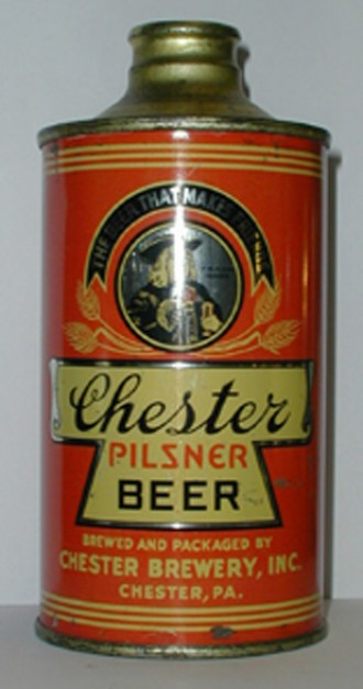 Chester Pilsner Beer Can from Chester Brewery