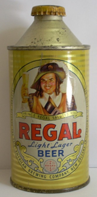 regal light lager beer can from american brewing co