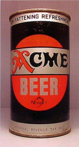 Acme Beer Can From Breweries