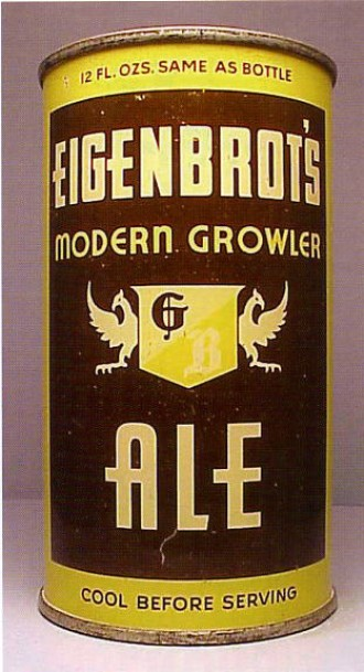 eigenbrot s modern growler ale beer can from globe brewing co