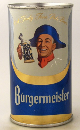 Burgermeister Beer Can from Burgermeister Brewing Co.