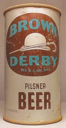 Brown Derby Beer Can