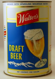Walter's Draft Beer Can