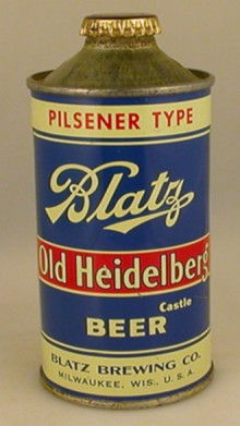 Blatz Old Heidelberg Beer Can