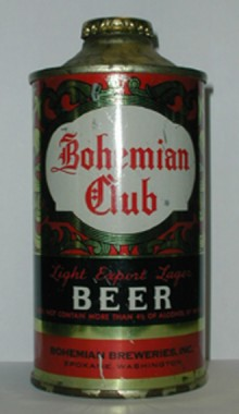 Bohemian Club Beer Can