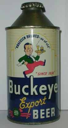 Buckeye Export Beer Can