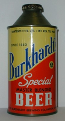 Burkhardts Export Beer Can