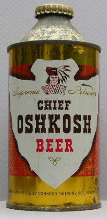 Chief Oskosh Beer Can