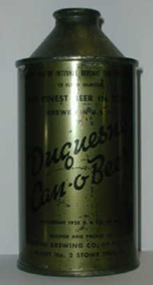 Duquesne (Olive Drab) Beer Can