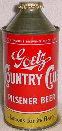 Goetz Country Club Beer Can