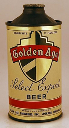 Golden Age Select Export Beer Can