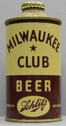 Milwaukee Club Beer Can
