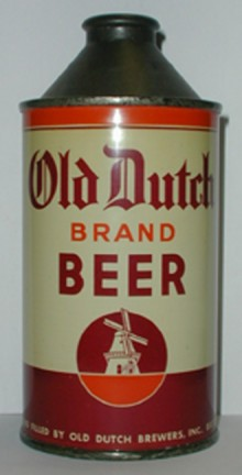Old Dutch Brand Beer Can
