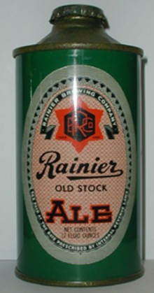 Rainier Old Stock Ale Beer Can