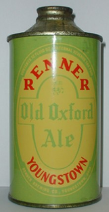 Renner Old Oxford Ale Beer Can