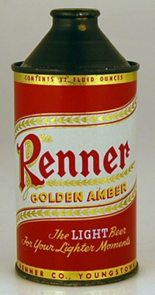 Renner Golden Amber Beer Can
