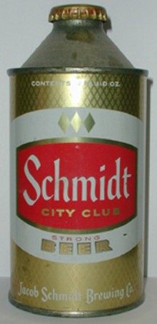 Schmidt City Club Beer Can