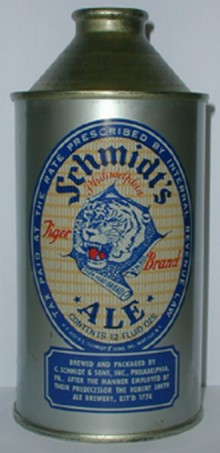 Schmidts Tiger Brand Ale Beer Can