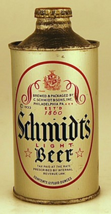 Schmidts Light Beer Can