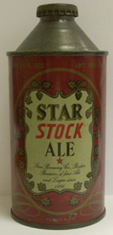 Star Stock Ale Beer Can