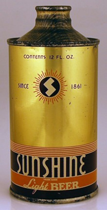 Sunshine Lager Beer Can