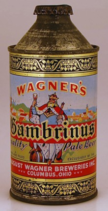 Wagners Gambrinus Pale Beer Can
