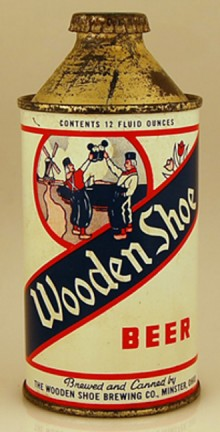 Wooden Shoe Beer Can