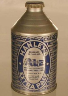 Hanleys Peerless Ale Beer Can