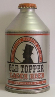 Old Topper Lager Beer Can