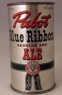 Pabst Blue Ribbon Ale Beer Can