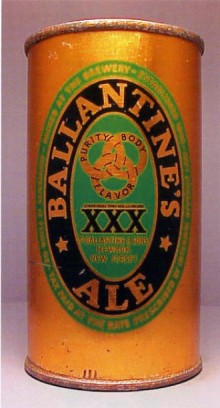 Ballantine's XXX Ale Beer Can