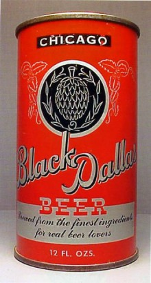 Black Dallas Beer Can