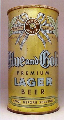 Blue and Gold Premium Lager Beer Can