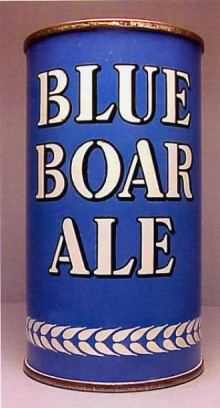 Blue Boar Ale Beer Can
