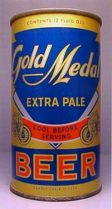 Gold Medal Extra Pale Beer Can