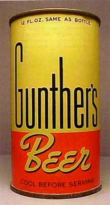 Gunthers Beer Can