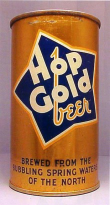 Hop Gold Beer Can
