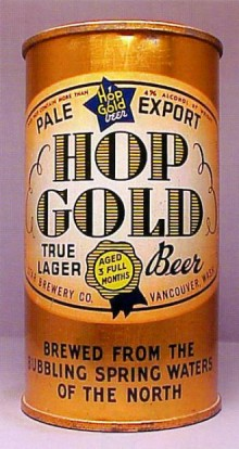 Hop Gold Pale Export Lager Beer Can