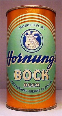 Hornungs Bock Beer Can