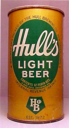 Hulls Light Beer Can