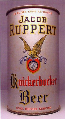 Jacob Ruppert Knickerbocker Beer Can