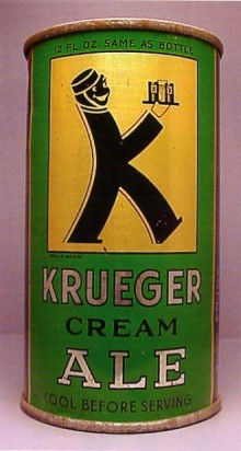 Krueger Cream Ale Beer Can