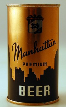 Manhattan Premium Beer Can