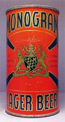 Monogram Lager Beer Can
