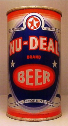 Nu Deal Brand Beer Can