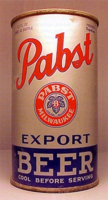 Pabst Export Beer Can
