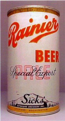 Rainier Special Export Pale Beer Can