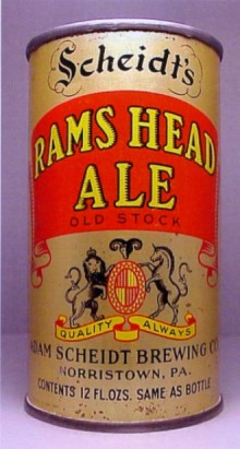 Scheidts Rams Head Ale Beer Can