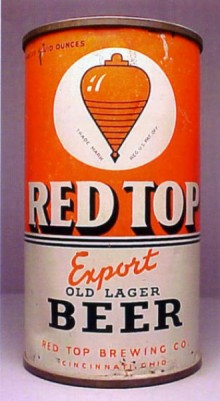Red Top Export Old Lager Beer Can
