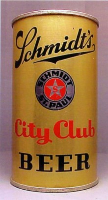 Schmidts City Club Beer Can